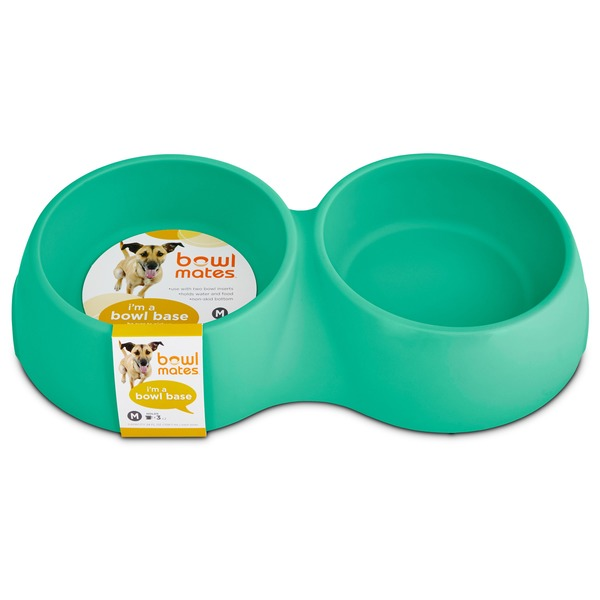 Petco Bowlmates By Petco Medium Mint Double Round Base