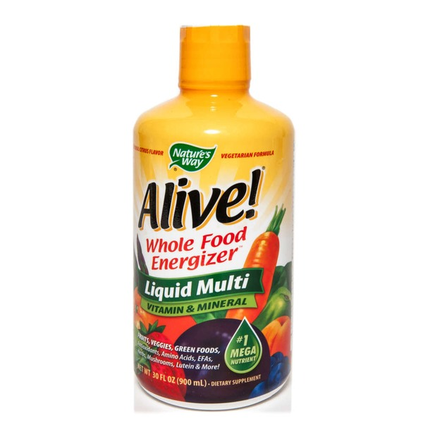 Nature's Way Alive! Whole Food Energizer Liquid Multi Vitamin & Mineral Dietary Supplement