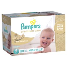 Pampers Premium Care Diapers, Size 2, 76 Diapers