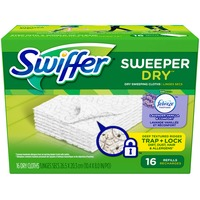 Swiffer Sweeper Dry Sweeping Pad Refills for Floor mop Unscented 16 Count Surface Care