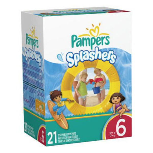 Pampers Splashwear Pampers Splashers Swim Diapers Size 6 21 count  Diapers