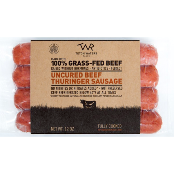 Teton Waters Ranch Uncured Beef Thuringer Sausage