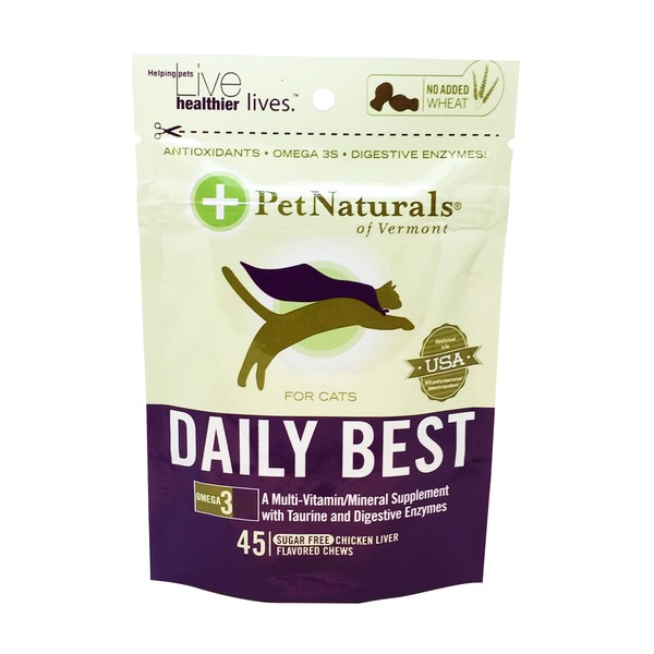 Pet Naturals Of Vermont Daily Best Chicken Liver Flavor Vitamin Supplement for Cats