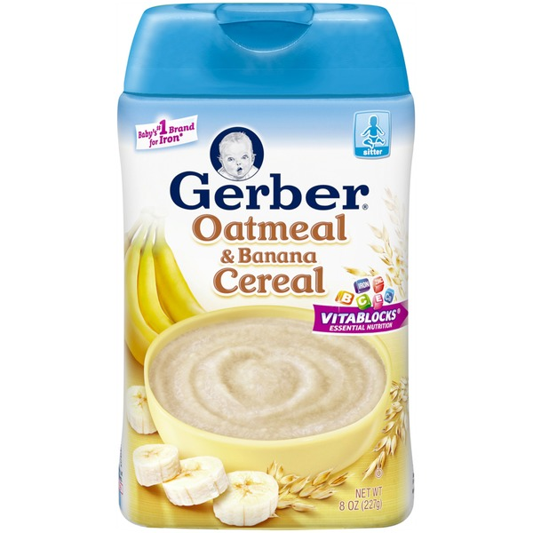 Gerber Cereal Oatmeal & Banana Baby Cereal
