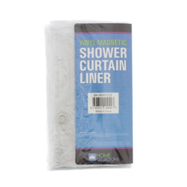 Home Collection Vinyl Clear Magnetic Shower Curtain Liner