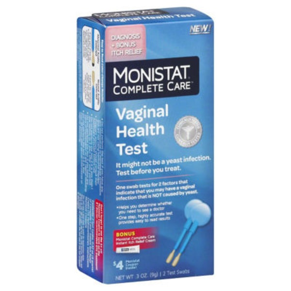 Monistat Complete Care Vaginal Health Test - 2 CT