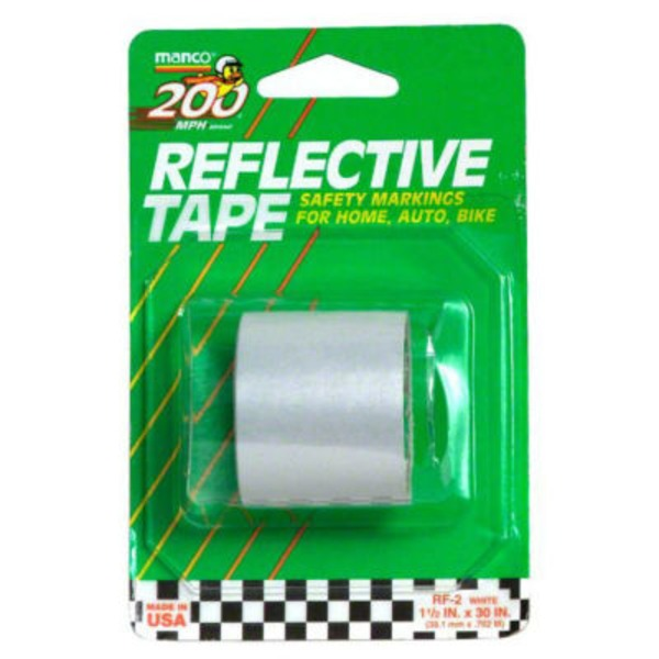 Manco White Reflective Tape 1.5 Inches X 30 Inches