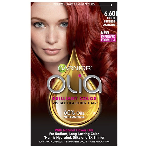 Olia™ 6.60 Light Intense Auburn Oil Powered Permanent Color