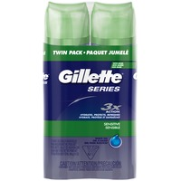 Gillette TGS Series Shave Gel Sensitive Twin Pack 14 Oz  Male Shave Prep