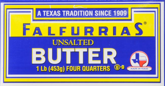 Falfurrias Unsalted Butter Four Quarters