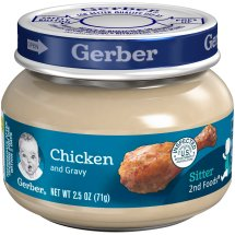 Gerber 2nd Foods Chicken & Chicken Gravy Baby Food, 2.5 oz