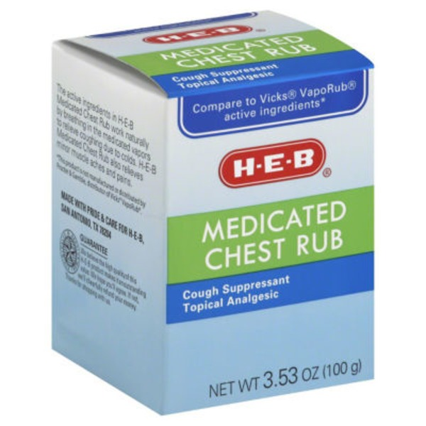 H-E-B Medicated Chest Rub Cough Suppressant/Topical Analgesic