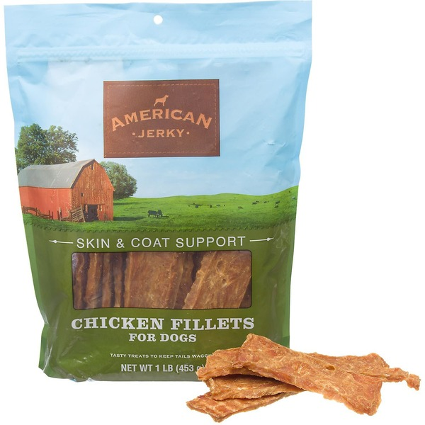 American Prime Cuts Jerky Skin & Coat Support Chicken Fillets Dog Treats