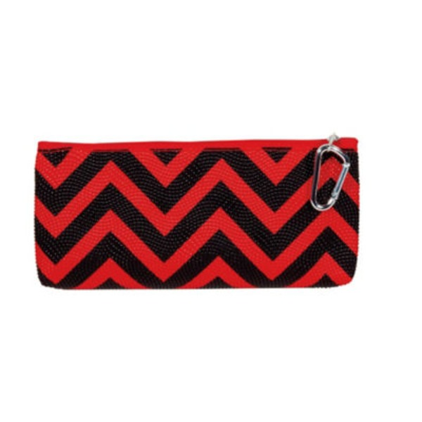 Unison Barrel Zip Pouch Glossy Houndstooth
