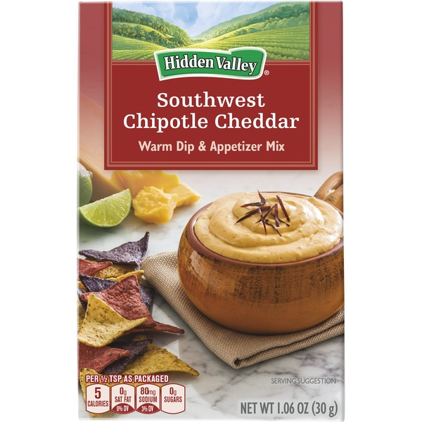 Hidden Valley Warm Dip & Appetizer Mix Spicy Chipotle Cheddar