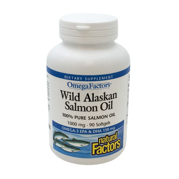 Natural Factors Wild Alaskan Salmon Oil 1000 Mg