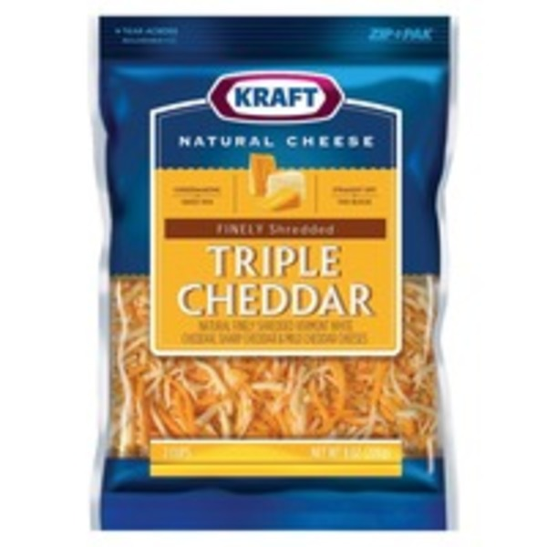 Triple Cheddar Finely Shredded Shredded Cheese
