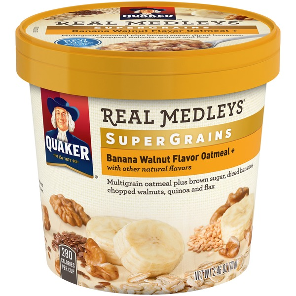 Quaker Real Medleys Super Grains Banana Walnut Oatmeal