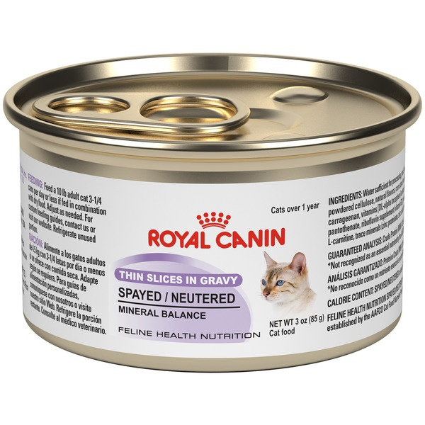 Royal Canin Feline Health Nutrition Spayed/Neutered Thin Slices in Gravy Cat Food
