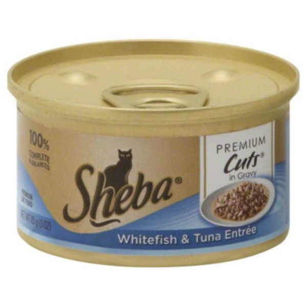 Sheba Cuts in Gravy Whitefish & Tuna Entree Wet Cat Food