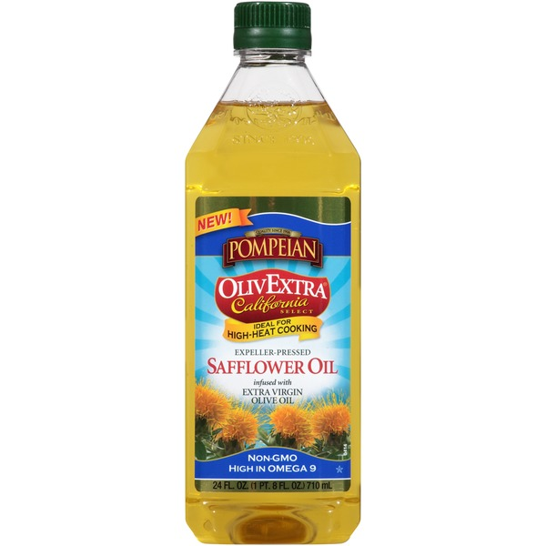 Pompeian OlivExtra California Select Expeller-Pressed Safflower Oil