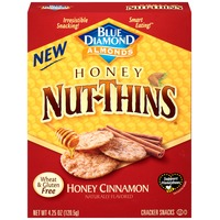 Blue Diamond Almonds Nut-Thins Honey Cinnamon Nut & Rice Cracker Snacks