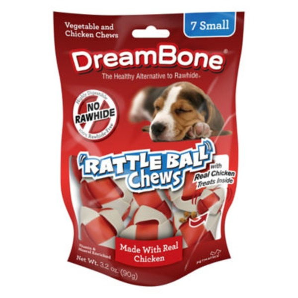 DreamBone Small Vegetable And Chicken Rattleball Chews