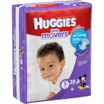 HUGGIES Little Movers Diapers, Size 3, 28 Diapers