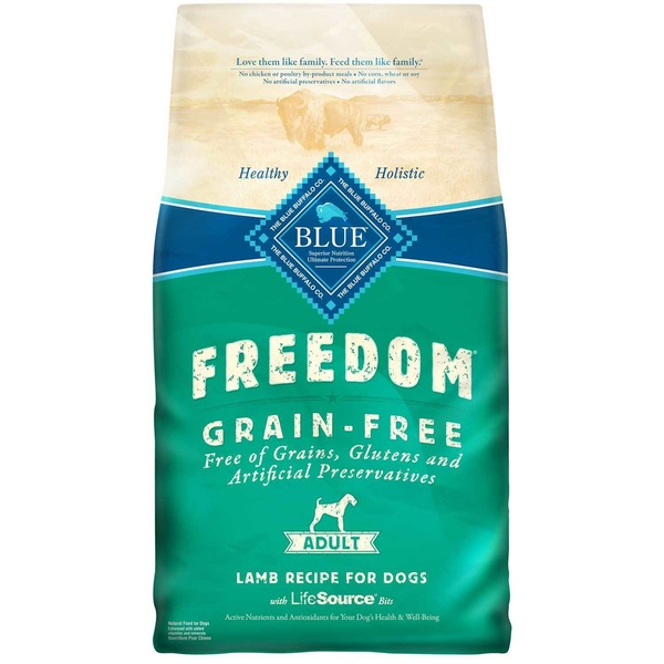 Blue Buffalo Freedom Grain Free Adult Lamb Recipe For Dogs With Lifesource Bits
