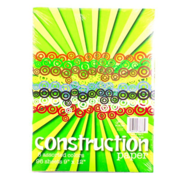 Norcom 8 Assorted Colors Construction Paper 9