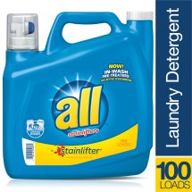 all Stainlifter Liquid Laundry Detergent, 150 Ounce, 100 Loads