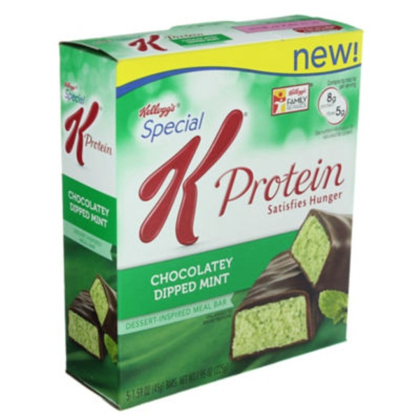 Kellogg's Special K Protein Dessert Inspired Chocolatey Dipped Mint Meal Bars