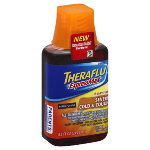 Theraflu ExpressMax Daytime Berry Flavor Severe Cold & Cough Liquid