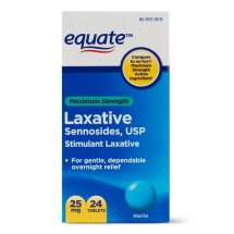 Equate Maximum Strength Laxative Sennoside Tablets, 25 mg, 24 Ct