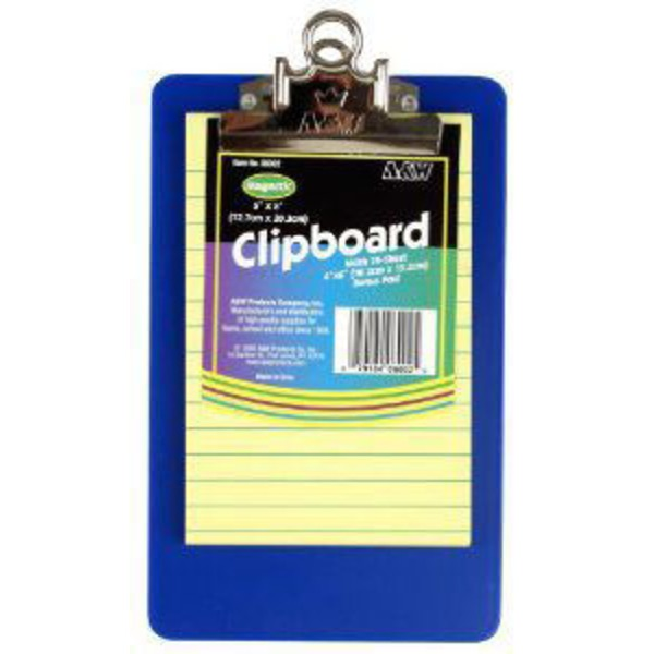 A&W Plastic Clipboard With Pad