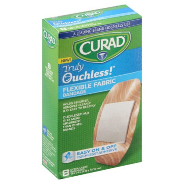 Curad Truly Ouchless! Flexible Fabric Bandage 1.65x4in - 8 CT