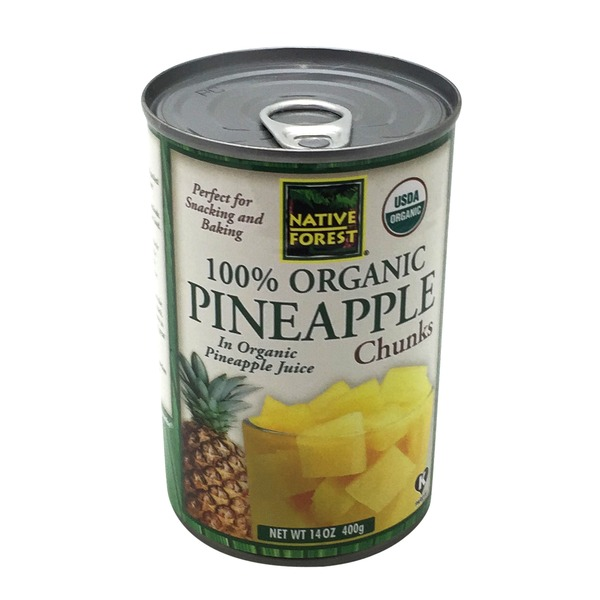 Native Forest Pineapple Chunks, Organic, in Their Own Organic Juice