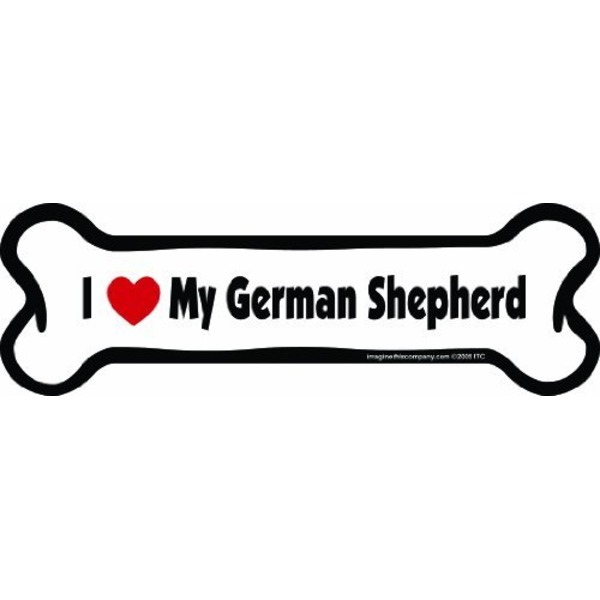 German Shepherd Bone Car Magnet