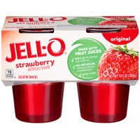 Jell O Ready To Eat Original Strawberry Gelatin Snacks