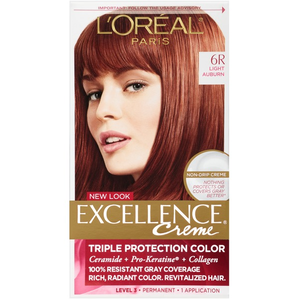 Excellence Creme 6R Light Auburn Hair Color