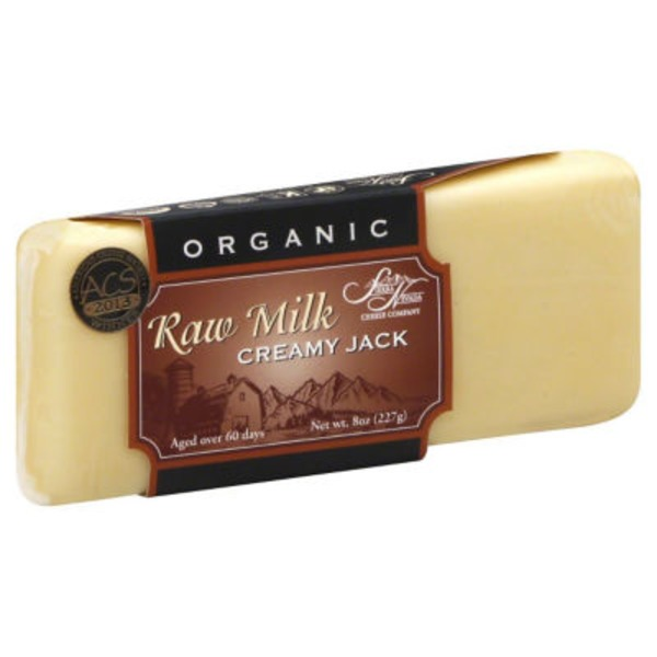 Sierra Nevada Organic, Creamy Jack, Raw Milk, Vacuum Packed