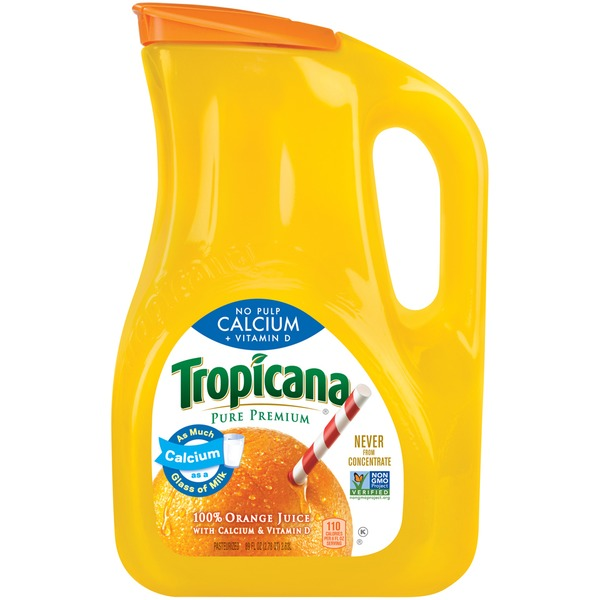 Tropicana No Pulp with Calcium & Vitamin D 100% Orange Juice