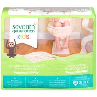 Seventh Generation Kids Free & Clear Unisex 3T-4T 32-40 lbs Training Pants