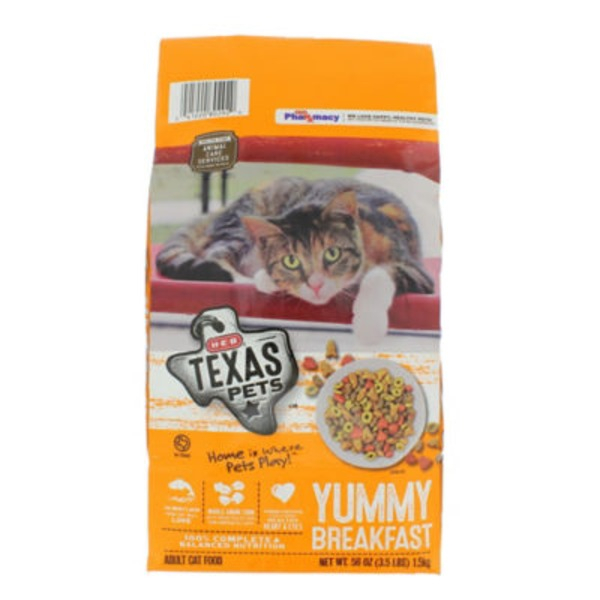 H‑E‑B Texas Pets Yummy Breakfast Mix Dry Cat Food