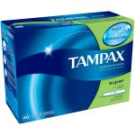 Tampax Tampons with Cardboard Applicator, Super, 40 Count