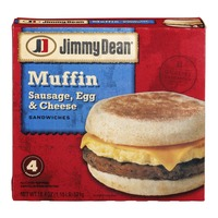 Jimmy Dean Muffin Sandwiches Sausage, Egg & Cheese