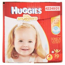 HUGGIES Little Snugglers Diapers, Size 4, 70 Diapers