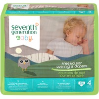 Seventh Generation Free & Clear Stage 4 22-37 lbs Overnight Diapers
