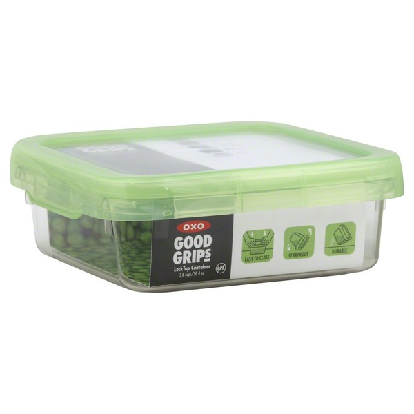 OXO Container, Lock Top, 3.8 Cups/30.4 Oz, Green