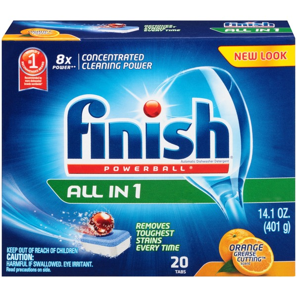 Finish Powerball Tabs All in 1 Fresh Scent Automatic Dishwasher Detergent